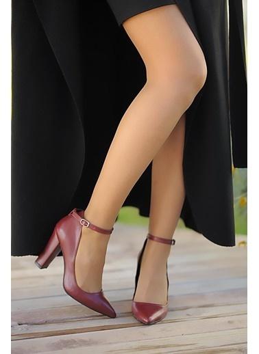 Pembe Potin A2119-19 Kadın Topuklu Ayakkabı A2119-19 Bordo